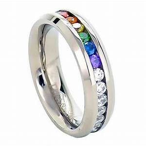 Inexpensive Gay Pride Wedding Rings Or Engagement Rings