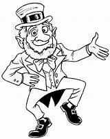 Leprechaun Coloring Pages St Sheets Printable Irish Patrick Getcoloringpages sketch template