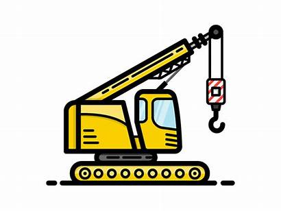 Crane Construction Truck Icon Drawing Clip Cartoon