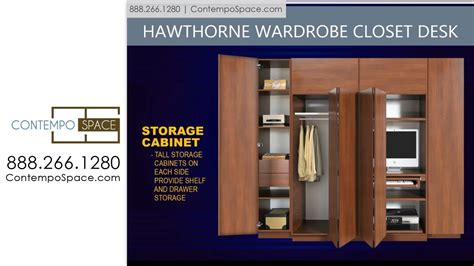 Wardrobe Cabinet Home Depot: Hawthorne Wardrobe Closet Desk