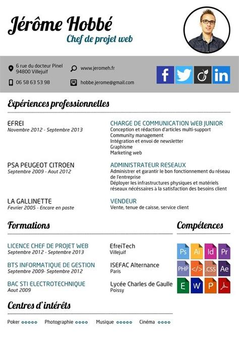 Exle Chef Cv by Curriculum Vitae Cv Chef De Projet Web Community