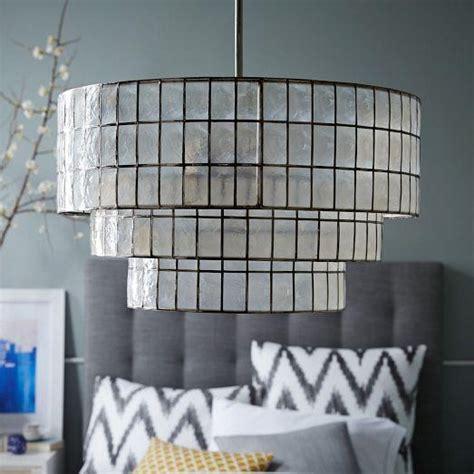 capiz tiered chandelier west elm