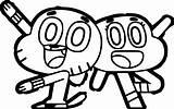 Gumball Coloring Amazing Marvel Characters Cartoon Darwin Drawings Printable Drawing Machine Network Draw Clipart Sheets Deadpool Clipartmag Mario Getcolorings Getdrawings sketch template