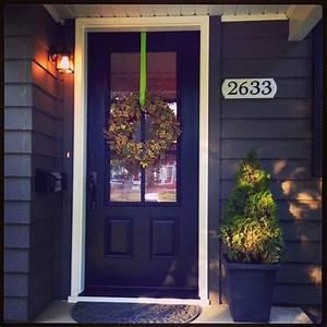 Black 3/4 glass front door Home Pinterest Black