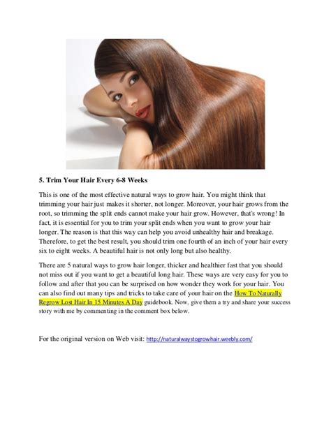discover 5 ways to grow hair longer fast at home