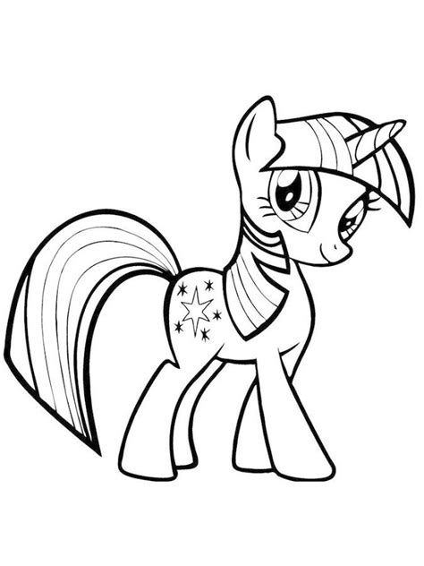 Coloring Kuda Poni mewarnai kuda poni rainbow dash b warna