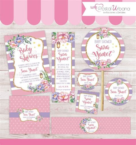 Baby Shower Kid by Kit Baby Shower Flores Imprimible Personalizado Bautizo