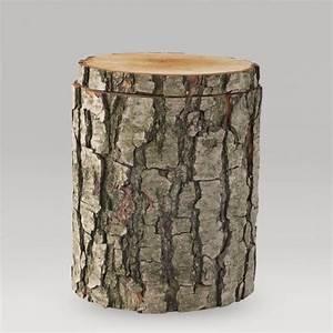 Naturholzplatte Mit Rinde : holz urne alnus mit rinde ~ Markanthonyermac.com Haus und Dekorationen