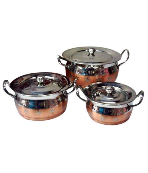 expresso copper bottom cookware set  pcs buy    price  india snapdeal