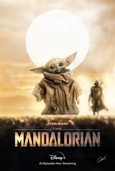 mandalorian baby yoda poster design starwars