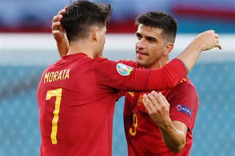 hur  spanien kvalificera sig foer em  sista  naer de spelar slovakien
