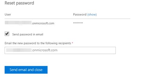 Office 365 Portal Reset Password by Microsoft Office 365 Email Reset Password In Office365