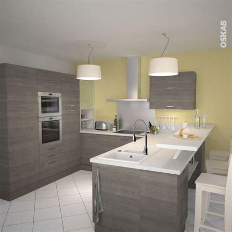 cuisine bois nature et d馗ouverte cuisine en bois structuré stilo noyer naturel pastel cuisine et collations
