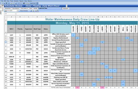 excel spreadsheet template  scheduling excelxocom