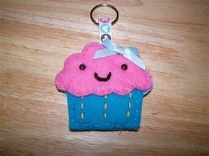 Cupcake Keyring · A Fabric Food Charm · Sewing on Cut Out