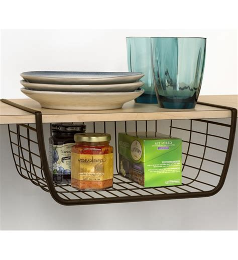 kitchen storage basket shelf storage basket bronze in shelf storage 3118