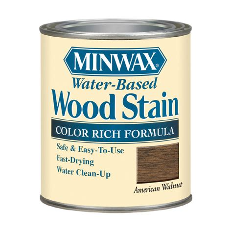 Shop Minwax 8oz American Walnut Waterbased Wood Stain At