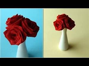 Rosen Aus Servietten Basteln : basteln mit kindern rosen basteln mit papier blumen falten diy ideen youtube ~ Frokenaadalensverden.com Haus und Dekorationen