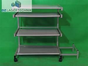 Mobiler Pc Tisch : mobiler pc tisch mit 4 ebenen silber dz lagertechnik ~ Frokenaadalensverden.com Haus und Dekorationen