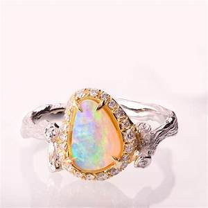 twig opal engagement ring opal engagement ring unique With opal wedding rings