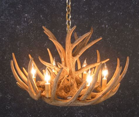 whitetail 9 antler cascade chandelier sale
