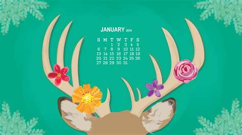 Monthly Desktop Calendar 2019 Wallpapers