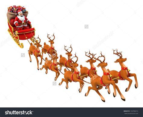 santa riding sleigh clipart 85