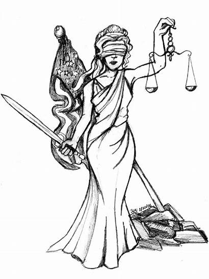 Justice Lady Drawing Tattoo Scales Drawings Lawyer