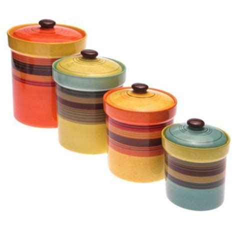 colorful kitchen canisters sets holy land paperback books canisters earthenware and