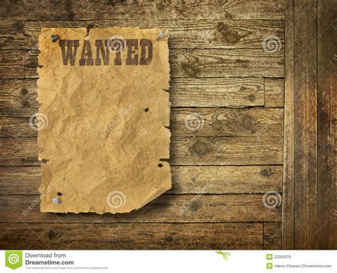 torn wild west wanted poster stock image image