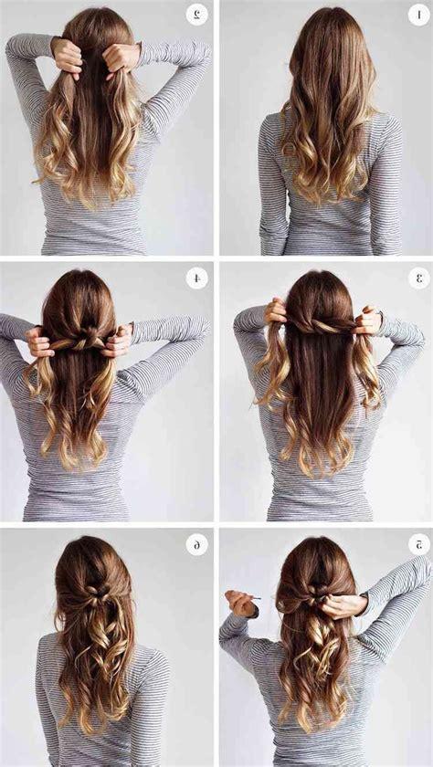 les meilleures idees de coiffures faciles  chics pour le