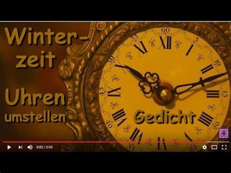 fg zeitumstellung winterzeit gedicht uebers