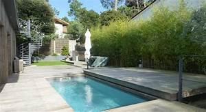 Mini Pool Terrasse : une petite piscine avec terrasse coulissante piscines carr bleu piscinas pinterest ~ Orissabook.com Haus und Dekorationen
