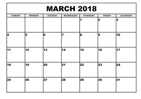 calendar template march 2018 march 2018 calendar editable printable free printable templates letter calendar word excel