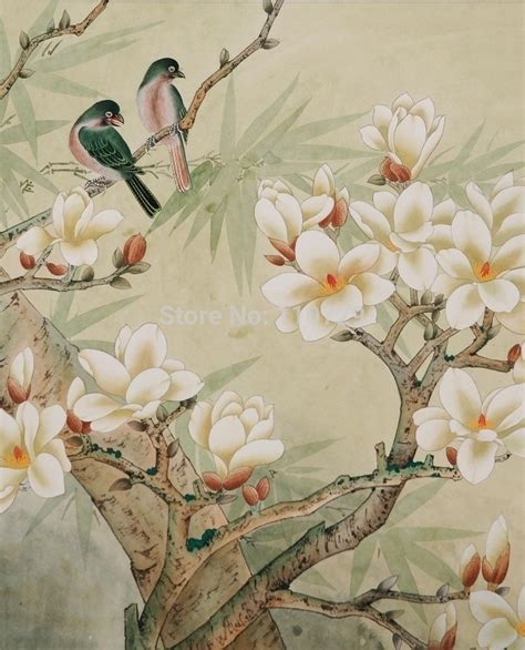 customized hand painted silk wallpaper hand painted