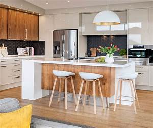 A modern kitchen renovation with mid century style  Modern