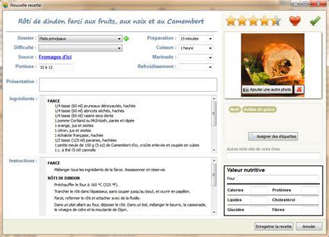 logiciel de recette de cuisine le collectionneur de recettes logiciel de recettes et