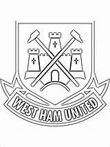 Ham West United Coloring Pages Football Colouring Utd Manchester Printable Crest Soccer Everton Club 1coloring Voetbal English Sheets Team Kleurplaten sketch template