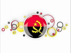 Circle background Illustration of flag of Angola