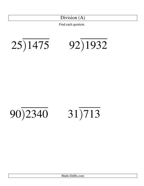 division worksheets two digit divisors division two digit divisor and a two digit quotient with no remainder large print a