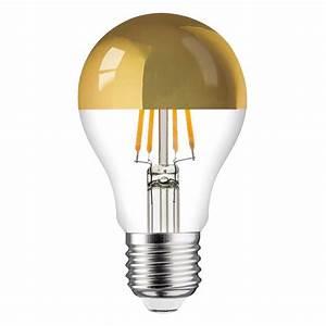 E27 Led Leuchtmittel : led filament leuchtmittel 4w 40w e27 kopfspiegel gold ~ Watch28wear.com Haus und Dekorationen