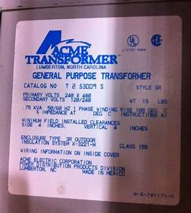 480 Input 240  120 Output Control Transformer Wiring Mystery