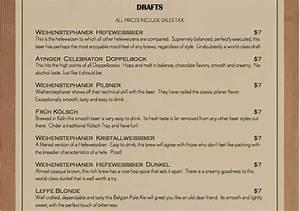 Dacha beer garden menu