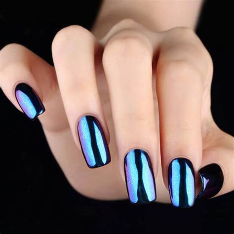 mirror effect nail glitter powder shinning chrome nail