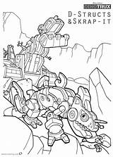 Dinotrux Coloring Pages Structs Skrap Printable Dino Dozer Characters Dreamworks Getcolorings Trucks Getdrawings Template Printables sketch template