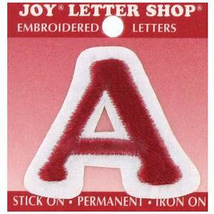 1 1 2quot embroidered iron on letter hobby lobby With red iron on letters hobby lobby