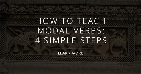 teach modal verbs  simple steps