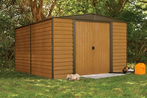 arrow woodridge shed wr1012 steel storage shed