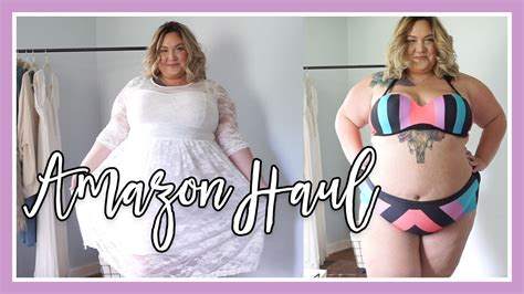 Plus Size Clothing From Amazon  Review And Haul Youtube
