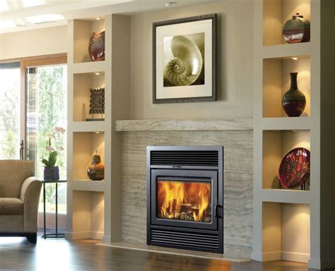 galaxy recessed wall mounted wood burning fireplace